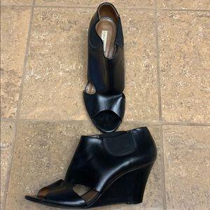 Zara Woman Open Toe Wedge Bootie